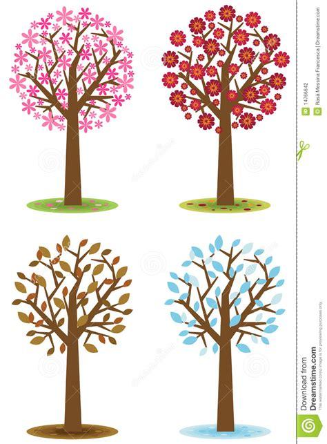 illustration of season trees four seasons trees stock vector illustration of autumn 14766642