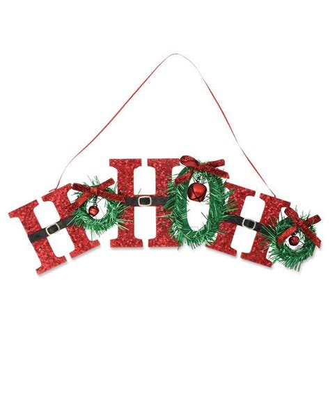 retro ho ho ho sign retro santa claus christmas sign