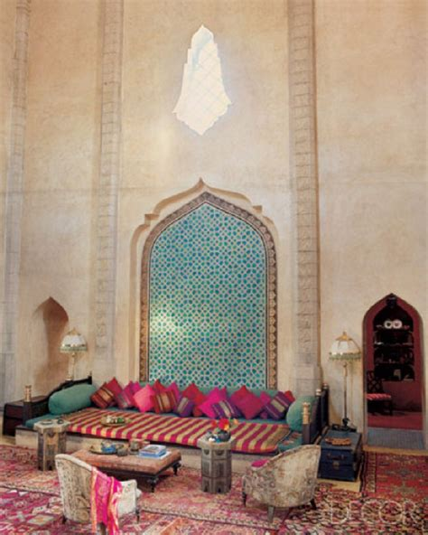 Morrocan Home Decor Country Home Designs Moroccan Decor Style Pink Divan Green Wall Decoration Classic Design
