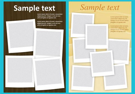 photo collage templates free photo collage templates free vector stock