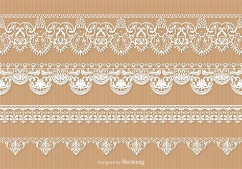 Lace Trim Set lace trim vector set free vector stock