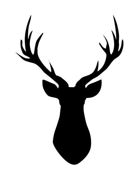 printable stencils deer deer head pallet free printable deer silhouette
