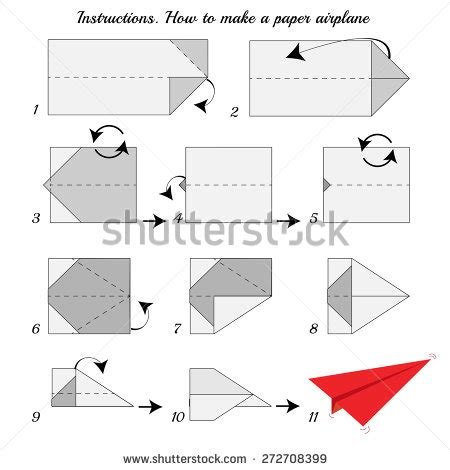How To Make Origami Airplanes Step By Step - how make paper airplane paper stock vector