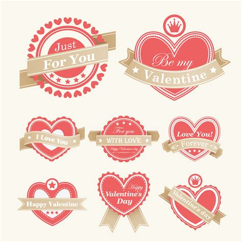 free vector valentines day labels vector free vector 4vector