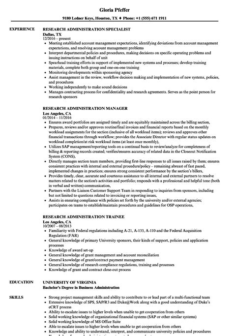 Irb Administrator Cover Letter by Microstrategy Administrator Sle Resume Free Standard Operating Procedure Template Word