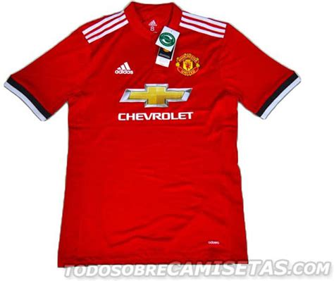 Jersey Manchester United A 17 18 manchester united 17 18 home away and third kits leaked