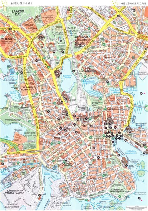 map of sightseeing in helsinki tourist map