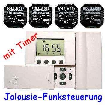 jalousien funksteuerung komplett set rohrmotor steuerung mit funk timer f 252 r 4