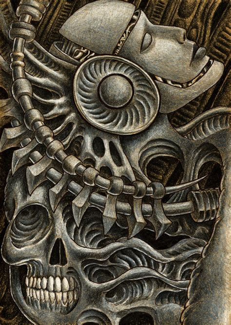 biomechanical composition by ignitron on deviantart