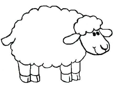 preschool coloring page sheep sheep template for preschool 28 images sheep template