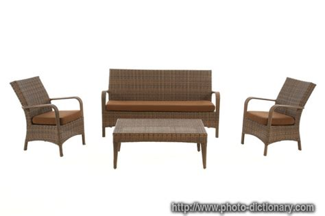 garden furniture photo picture definition at photo
