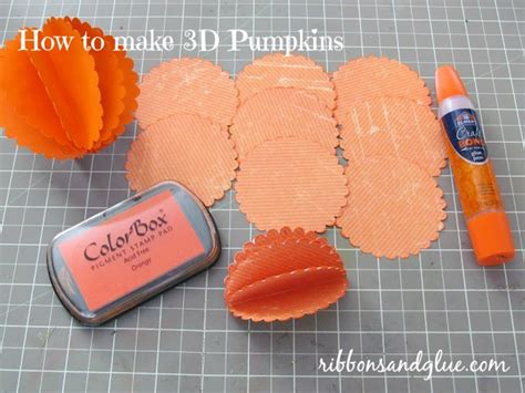 How To Make 3d Pumpkin Out Of Paper - fall scarecrow and pumpkins centerpiece