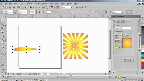 cara pattern corel tutorial cara membuat efek sinar matahari coreldraw youtube