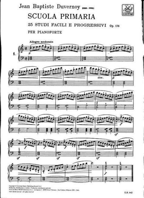 Buku Piano Duvernoy Op 176 ricordi duvernoy j b scuola primaria 25 studi facili