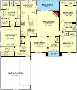 Acadian Floor Plans by 3 Bedroom Acadian House Plan