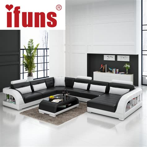 large sofas living room ifuns large u shaped sofa white cow leather living