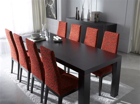 expensive dining room sets extendable rectangular in wood fabric seats modern