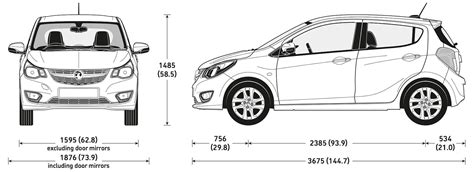 car dimensions in vauxhall viva sizes and dimensions guide carwow