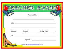 printable teachers appreciation week certificates awards