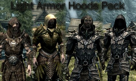best light armor in skyrim light armor hoods pack at skyrim nexus mods and community