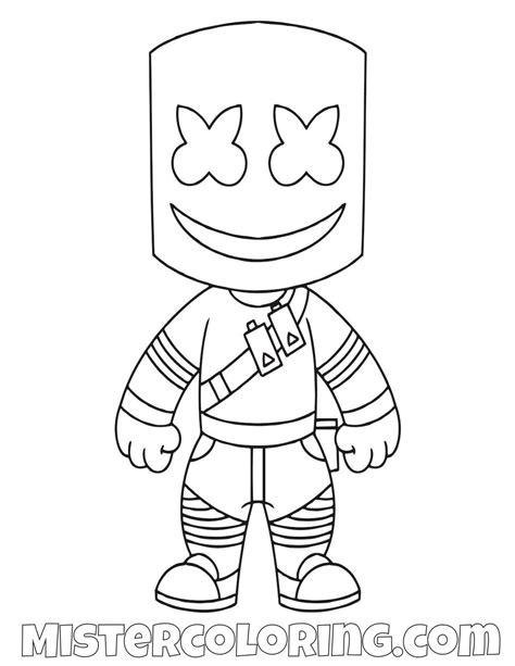 marshmello chibi skin fortnite coloring page  kids cool coloring pages chibi coloring