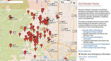 boulder colorado on map puts together boulder floods crisis map softpedia