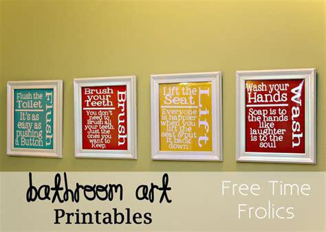 free printable bathroom art free printable included