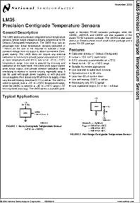 transistor lm35 datasheet lm35 datasheet precision centigrade temperature sensor