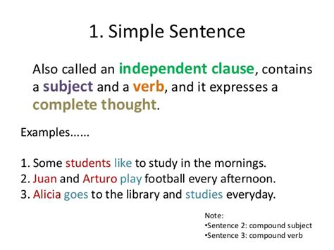 sentence template types of sentences and pronouns