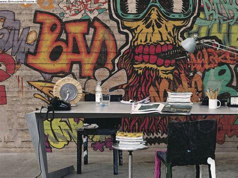 tappezzeria bambini carta da parati soggetto graffiti per area bambini