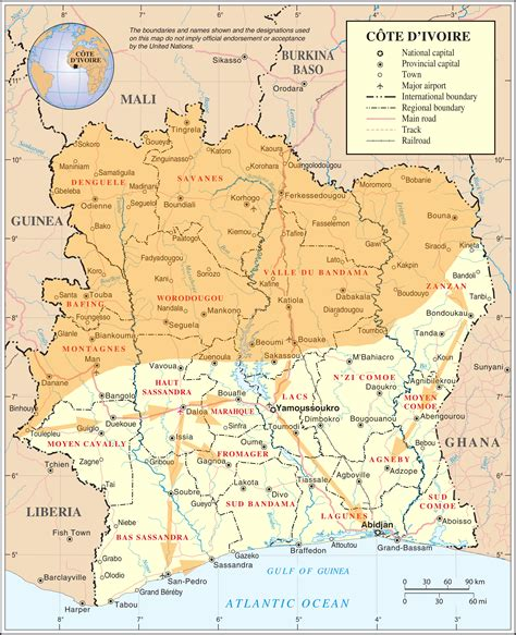 where is ivory coast on the map various musings
