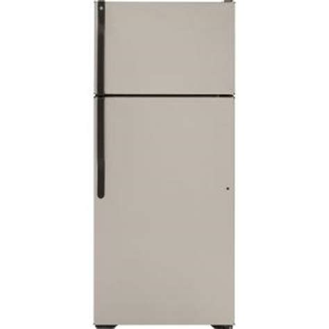 ge gtj18hcbsa 18 1 cu ft silver metallic top freezer