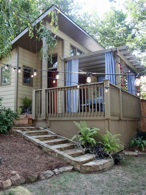 bungalow backyard a modern bungalow style garden shed hgtv