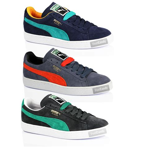 mens boys suede classic casual lace sport suede