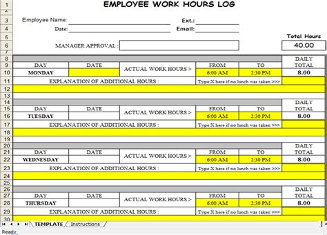 free excel timesheet template weekly employee schedule template free