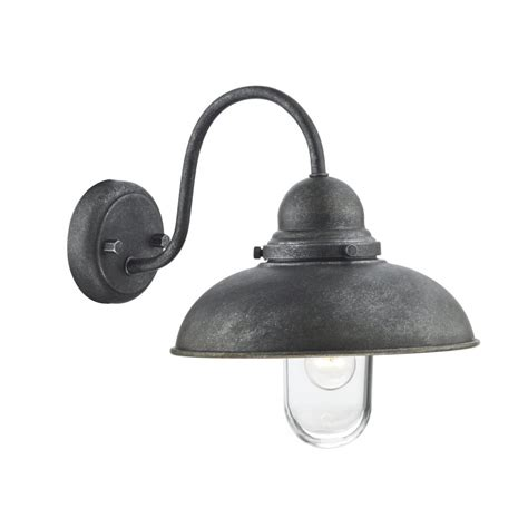 Iron Outdoor Lighting Traditional Rustic Garden Wall Light In Iron Finish Ip44