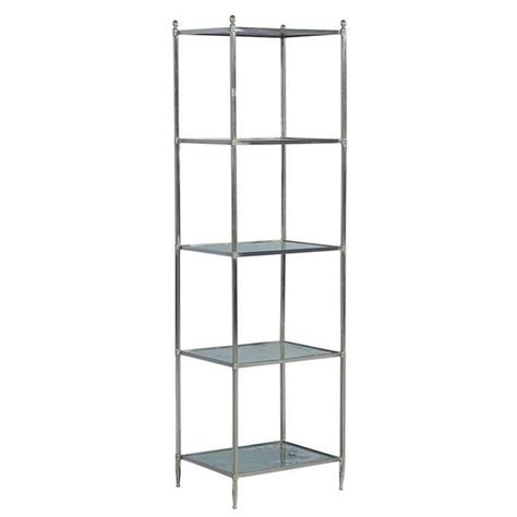 etagere nickel eglomise glass and polished nickel 201 tag 232 re for sale at 1stdibs