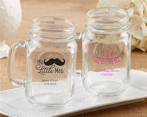 Baby Shower Favors Jars by Personalized 16 Oz Jar Mug Baby Shower Favors By