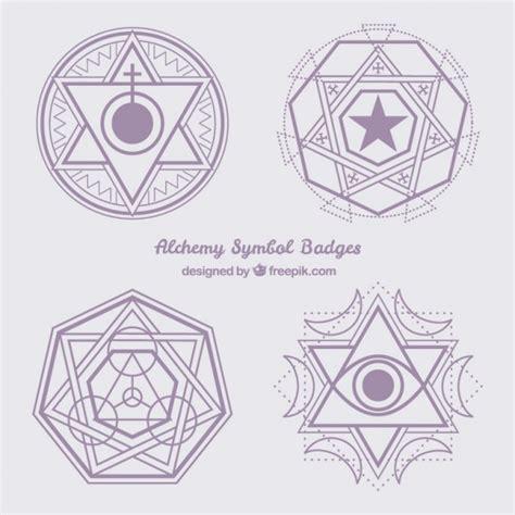 imagenes de simbolos geometricos s 237 mbolos abstractos de alquimia violetas descargar