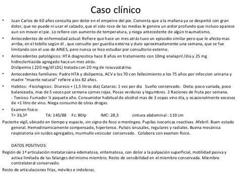Caso Clinico   caso clinico y clase 2016 gota patologia b