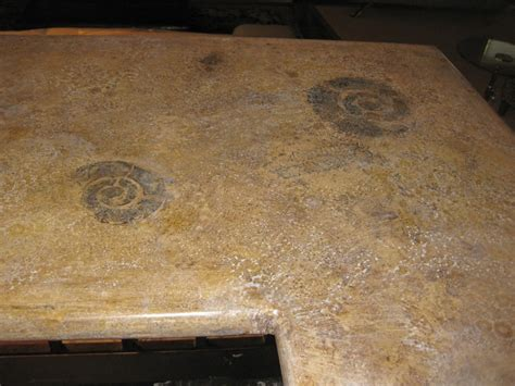 fossil countertops decorating with nature