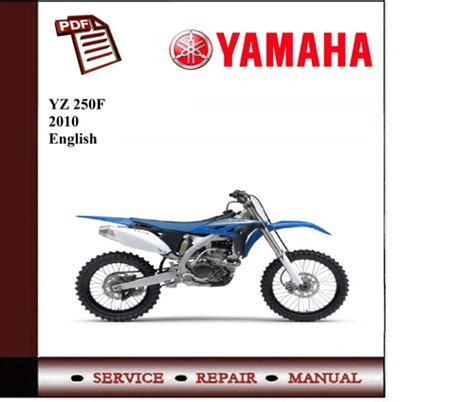 Yamaha Yz 250f 2010 Workshop Service Manual Download