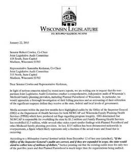 Audit Service Request Letter Wisconsin Lawmakers Ask For Planned Parenthood Audit Dynamics