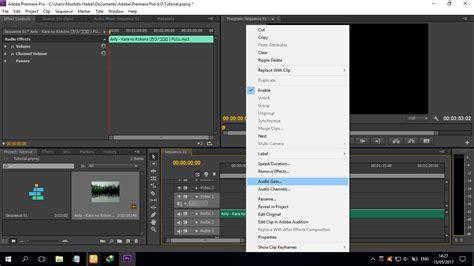 cara mengekspor video dari adobe premiere pro cara mengatur suara video menggunakan adobe premiere pro
