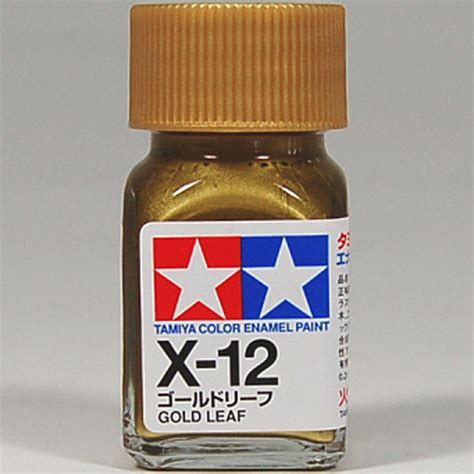 tamiya color enamel x 12 gold leaf model kit paint 10ml new ebay