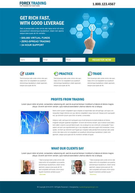 lead capture or lead generation landing page design