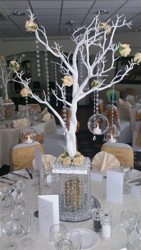 187 gold and white manzanita tree centrepiece woodyatt warner