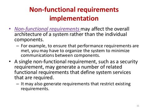 non functional requirements template software requirement and specification