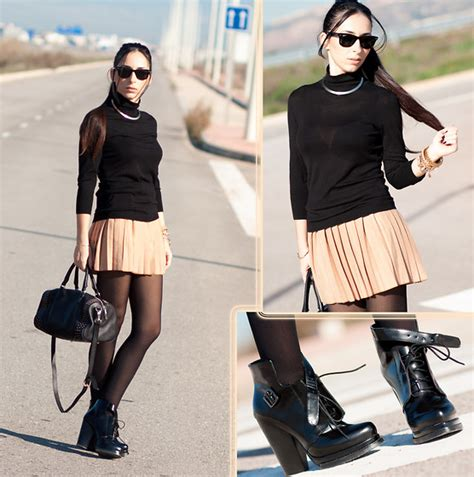 wows choies buckle ankle boots chic wish skirt oasap