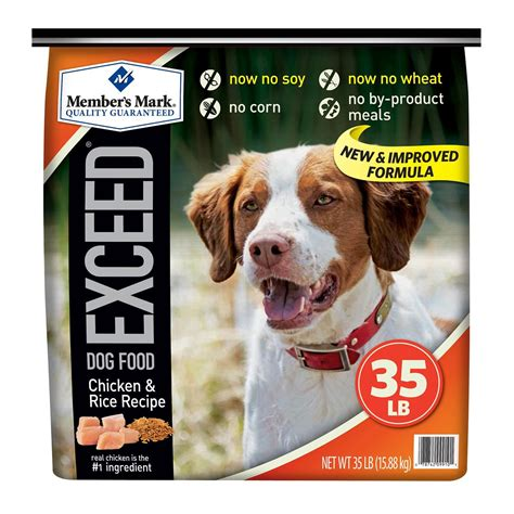exceed puppy food member s exceed food chicken rice 35 lb jet